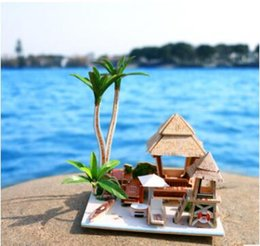 Wholesale Cool Wood Carvings - Creative craft gift wood diy cabin 3d puzzle cool focusing on originality is inherently different free create space