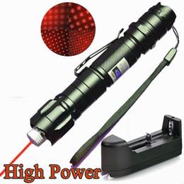 Bateria surpreender on-line-10 Milhas Vermelho Laser Pointer Caneta Estrela Clipe Cinto Clipe Astronomia 650nm Recarregável Incrível Lazer Cat / Toy Dog + 18650 Bateria + carregador