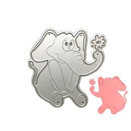 Wholesale Elephant Crafts - Playing Elephant DIY Metal Cutting Dies Stencil Scrapbook Card Album Paper Embossing Craft