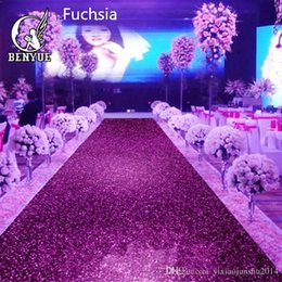 Wholesale Upscale Christmas Decorations - 1 m Wide X 10 M Upscale Pearlescent Wedding Carpet Shiny Aisle Runner T station Carpet For Party Decoration Supplies Many Colors