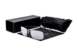 Wholesale Rectangle Driving Lights - Pure Titanium Polarized Sunglasses Men Women Super Light Luxury Brand Designer Sun Glasses oculos de sol masculino UV400 F8206