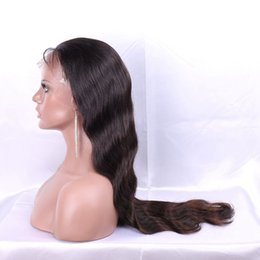 Wholesale Indian Hair Stock Price - Body Wave Full Lace Wig with baby hair best quality Indian hair full lace wig natural color cheap price stocked