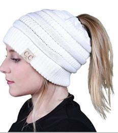 fios de fantasia lenço Desconto 6 cores New cap outono tampas de inverno de lã adesivos de malha chapéus de cavalinha mulheres meninas chapéu de lã SK89