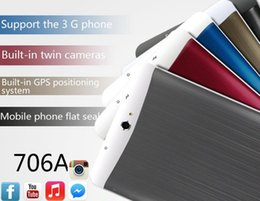 Wholesale Android Dual Core 4g - 3G Tablet PC 7 Inch Screen MTK6572 dual core 1GB 4G Phablet tablets pc Android Bluetooth GPS wifi Dual Camera with sim card slot phone call