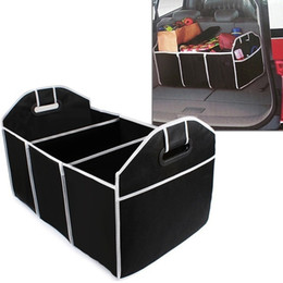 Wholesale Car Auto Storage Interior Accessories - Car Trunk Organizer Car Toys Food Storage Container Bags Box Auto Interior Accessories (Color: Black) (Color: Black)