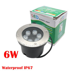 Wholesale Ip67 1w - High quality 6*1W 6W Led Underground Light AC85~265V Waterproof IP67 3years Warranty LED Outdoor Lighting DHL free ship