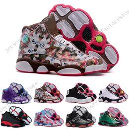 Wholesale Glitter Girl Shoes - Cheap New Retro 13 XIII Womens Basketball Shoes sneakers women brand dan sports running shoes girls designer shoes drop free shipping 36-40