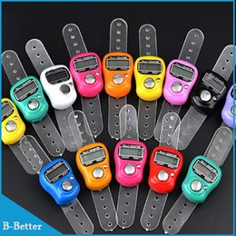 Wholesale Digital Tasbih - Wholesale- 100pcs Digital Electronic Muslim Finger Ring Tally Counter Tasbeeh Tasbih Golf &Temple Finger Counter Wholesale Muslim Counter