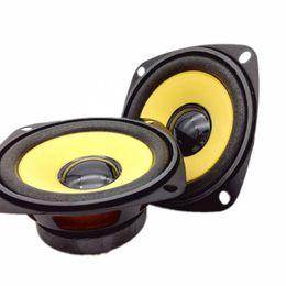 2019 4ohm lautsprecher Großhandels-2Pcs 3Inch 4Ohm 10W Vollsortiment HIFI Audio-Lautsprecher Gold Foam Edge Schwarz Magnetic Multimedia Lautsprecher DIY Lautsprecher günstig 4ohm lautsprecher