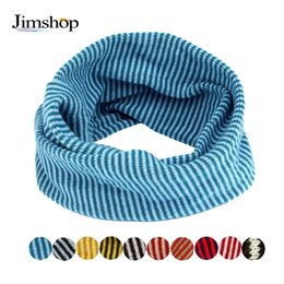 Wholesale Baby Autum - Wholesale- Jimshop 2016 New Autum Winter Kid Scarf Colors Stitching O-ring Knit Woolen Baby Scarf Neck Warmer Fast Shipping