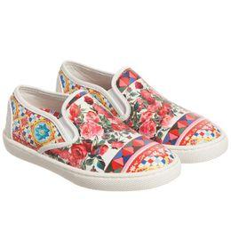 Wholesale Girl Flower Princess Shoe - Kidsalon Girls Shoes Kids Chaussure Fille Toddler Girl Leather Shoes Rose Flower Princess Girls Slip-On Shoes
