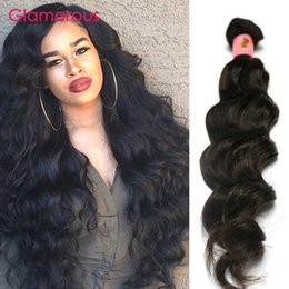Wholesale Brazilian Remy Hair For Cheap - Glamorous Malaysian Human Hair Natural Wave Cheap Wavy Hair Extensions 1 Bundle 100g Peruvian Indian Brazilian Hair Weaves for black women