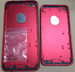 Wholesale Iphone Replacement Backs Color - Free Shipping Airey New Product iPhone 7 7 Plus Red Color Back Cover Rear Housing Replacement for iPhone 7 and 7 Plus