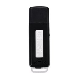 Wholesale Portable Usb Disk Drive - Wholesale-2016 Hot Sale 2 in 1 Mini 8GB USB Pen Flash Drive Disk Digital Audio Voice Recorder 70 Hours Portable Mini Recording Dictaphone