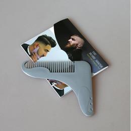 haarschneidemodelle Rabatt Neue Design-Bart Bro Bart Shaping Werkzeug für perfekte Linien Haartrimmer für Männer Trim Vorlage Hair Cut Gentleman Modelling Comb