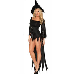 Wholesale Adult Halloween Costumes Xl - Halloween witches role playing Costume Deluxe Adult Womens Magic Moment Costume Adult Witch Halloween Fancy Dress