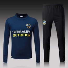 Wholesale galaxy jackets - Thai 17 18 Los Angeles Galaxy soccer Tracksuit Track suits jacket 2017 2018 LA Galaxy chandal training suits sports wear