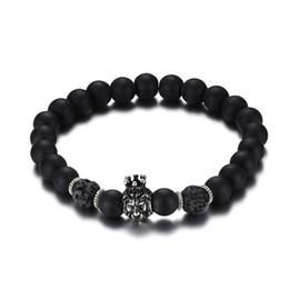 Wholesale Br Jewelry - 2017 Hot Sale Male Jewelry High Quality Alloy Crown Lion Head Bracelet Black Men's Bracelet BR-357