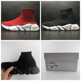 Wholesale Shoes Luxury Flat - 2018 Luxury Sock Shoe Speed Trainer Running Shoes High Quality Sneakers Trainer Sock Race Runners triple black red Shoes men and women Sport
