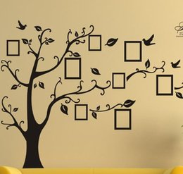 Wholesale Large Black Tree Wall Decals - newarrival Large Room Photo Frame Decoration Family Tree Wall Decal Sticker Poster on a Wall Sticker Tree Wallpaper Kids Photoframe Art Y133