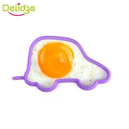 Wholesale heart shaped pancake mold - 100 pc Car Owl Panda Heart Flower Egg Mold Silicone 5 Shapes Breakfast Egg Ring Fried Egg Mold Pancake Mold
