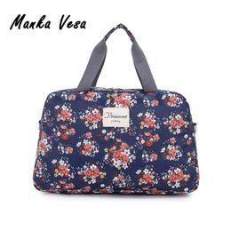 Wholesale Wholesale Tote Bag Luggage - Manka Vesa 2016 New Fashion Women's Travel Bags Luggage Handbag Floral Print Women Travel Tote Bags Large Capacity