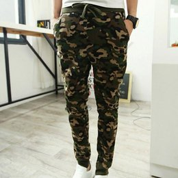 Wholesale Cool Hip Hop Clothes - 2017 Casual Men Pants Camouflage Hip Hop Army Pants Brand Quality Cool Camo Clothing Fashion Military Trousers M-2XL Men Joggers