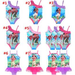 Wholesale Pool Pieces - Trolls Kids Swimwear 2017 Movie Moana Trolls Print Swimsuit One-Piece Children Summer Bikini Beach Swim Clothes Pool Bathing Suits
