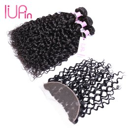 Wholesale Lace Closure Body Curl Wave - Body Wave Straight Loose Deep Wave Curl Brazilian Water Wave Virgin Hair 3 Bundles With Lace Frontal Closure Human Hair Bundles With Closure