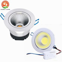 Wholesale Free Led Downlights - Wholesale Recessed Ceiling Dimmable Led Downlights 9W 12W 15W COB Led downlight AC110-240V + CE ROHS UL free shipping