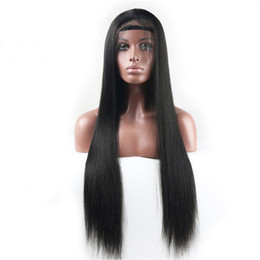 Wholesale Indain Lace - silky straight Human remy Hair Wig natural color lace front wigs full lace wigs Nice Quality indain human hair