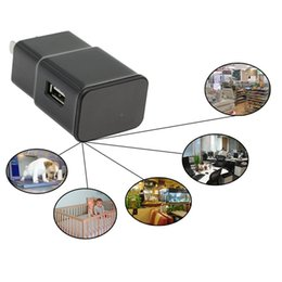 Wholesale Wifi Security Camera App - New Wifi 1080P HD USB Wall Charger Hidden Spy Camera Nanny IP Cam Adapter Security Camera Support APP Remote View 10pcs With Retail Package