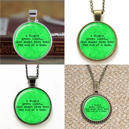 Великолепные фото онлайн-Великий Гэтсби Один зеленый свет литературное стекло фото ожерелье брелок закладка запонки серьги браслет