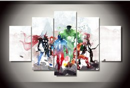 Wholesale poster printing free - Printed Canvas Painting avengers room decor modern art print poster painting canvas Free shipping