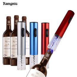 Elektrischer lichtstahl online-Pro-elektrischer Wein-Korkenzieher Screwpull-Rotwein führte hellen Flaschen-Öffner mit freiem Folien-Schneider-Edelstahl ohne Batterie P30