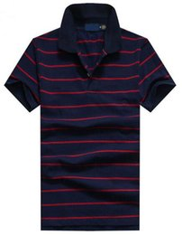 Wholesale Polo Club - Top Quality New 2017 embroidery men's Polo Shirt Golf Club Men Striped Shirts polos homme Fashion Small Horse