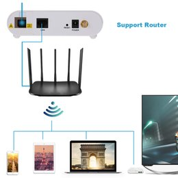 Wholesale Fiber Optic Wiring - Wholesale- Mini Fiber Optic GE EPON ONU Modem 10 100 1000Mbps, PON Port + LAN Port + Reset + Power Port Switch