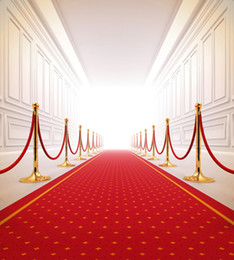 Wholesale Red Vinyl Wallpaper - Red Carpet Wedding Backdrop Photography Bright Front Door Indoor Photographic Background Picture Shooting Props Booth Wallpaper Vinyl Cloth