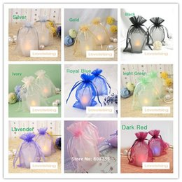 Wholesale crafts candy - 19 colors Pick--100PCS 10x15cm Sheer Organza Wedding Party Favor Gift Candy Bags Jewelry Pouches Festive Supplies Decor Crafts