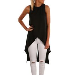 Wholesale Cut Loose Dress Xl - 2016 Summer Sexy Women Asymmetrical Cut Out Bandage Bodycon Chiffon Party Dresses Casual Loose High Low Beach T Shirt Dress Z1