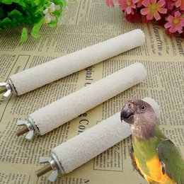 Wholesale Bird Cage Pet - Hot Sale Birds Claws Grinding Station Rack Shelf Pet Parrots Perch Standing Rack Bar Bird Budgie Chew Toys Cage Supplies JJ0202