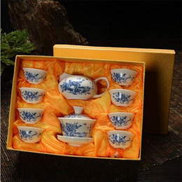 Wholesale pot cups - YGS-Y189 Chinese Kung Fu Tea Set Drinkware Purple Clay ceramic Binglie include Tea pot Cup, Tureen Infuser Tea Tray Chahai