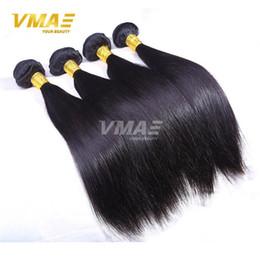 Wholesale Double Drawn Virgin Indian Hair - 8A Grade double drawn Indian Hair Straight 3 Bundles Lot Unprocessed virgin Human Hair Black Hair Weave Cheap Price No Tangle