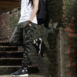 Wholesale Chinese Men Suits - Heybig Brand Mens Joggers Pants Hip Hop Camouflage Trousers camo suit Men Military Skateboard Sweatpants Chinese SIZE