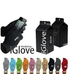 Wholesale Touch Screen Igloves - 10 Colors Unisex iGlove Capacitive Touch Screen Gloves for Smart Phone iGloves Gloves With Retail Package 2pcs pair CCA7322 100pair