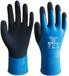 Wholesale Wholesale Thermal Gloves - warm winter garden glove gardening Safety Glove Latex cold proof thermal water slip resistant cold storage work glove