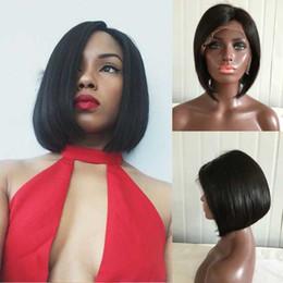 2017 Kısa bob stil İnsan saç peruk siyah kadınlar Için Bob tam dantel peruk bebek saç Ile nereden