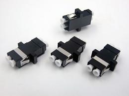 Canada En gros Nouveau Fiber Optique Connecteur Flange LC Double Multimode Noir COULEUR Adaptateur Coupleur 100 pcs / LOTS TO Russia Offre