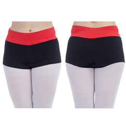 Wholesale Pink Dance Tights - Dance Shorts Waisted Roll Down Dance Tight Shorts for Ladies Modern Dance Girls Performance Costume SHORTS ONLY