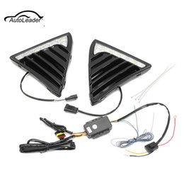 Wholesale Daytime Running Led Ford Focus - 2Pcs LED Daytime Running Light DRL Lamp Headlight Turn Signal For Ford Focus 2012-2014